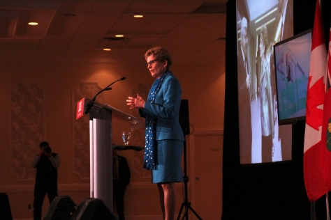 Kathleen Wynne at Waterloo Inn, 18/03/2014
